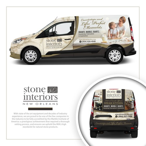 Stone Interiors Ford Transit Wrap