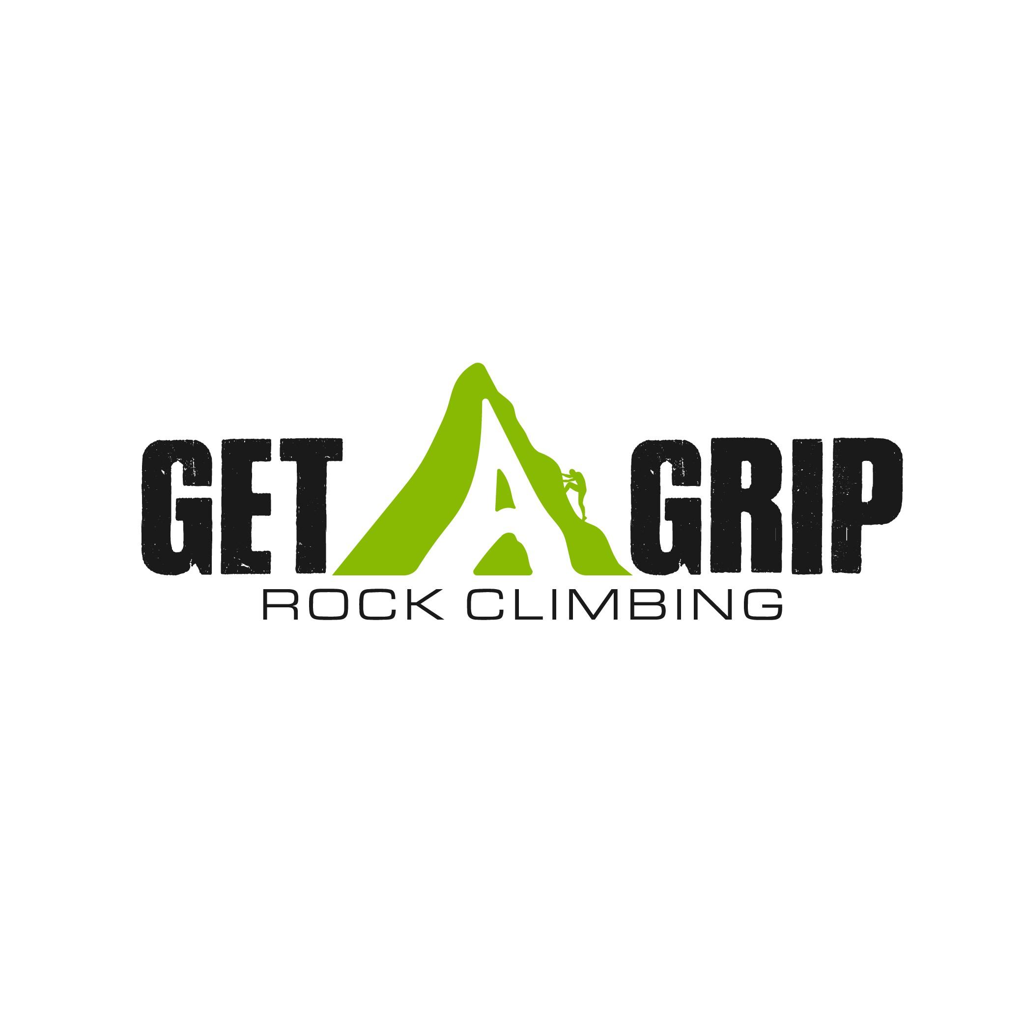 Get A Grip! Rock Climbing logo design