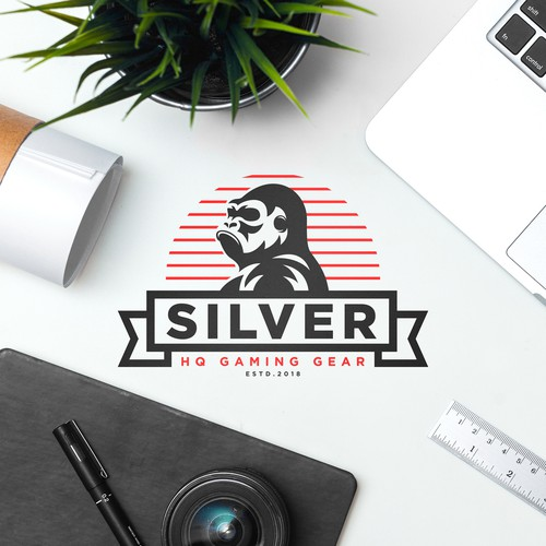 Gorilla silverback logo for gaming gear company