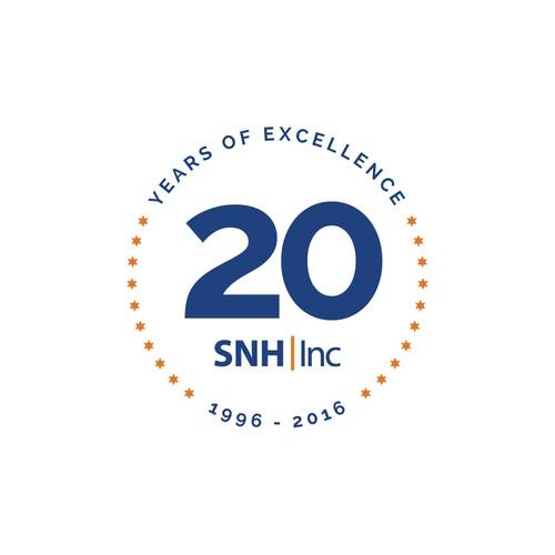 Minimalist logo badge
