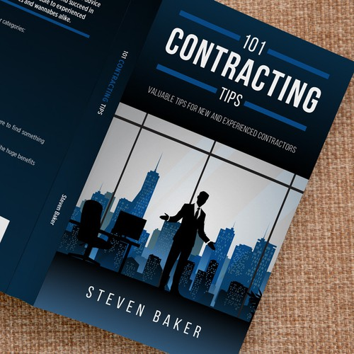 """101 Contracting Tips"" book cover design"