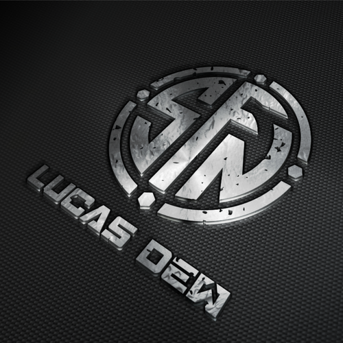 Powerful impact and Strong logo concept for Lucas Dew Metal Sculptor