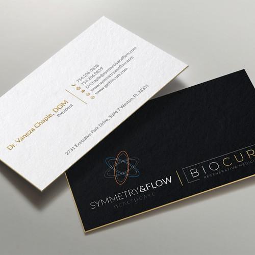 Business card design in matte paper