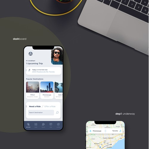 App design for Ride Sharing