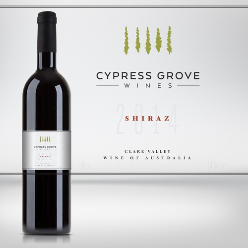 Cypress Groves wine label