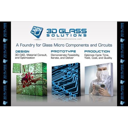 3D Glass Solutions Booth Graphic