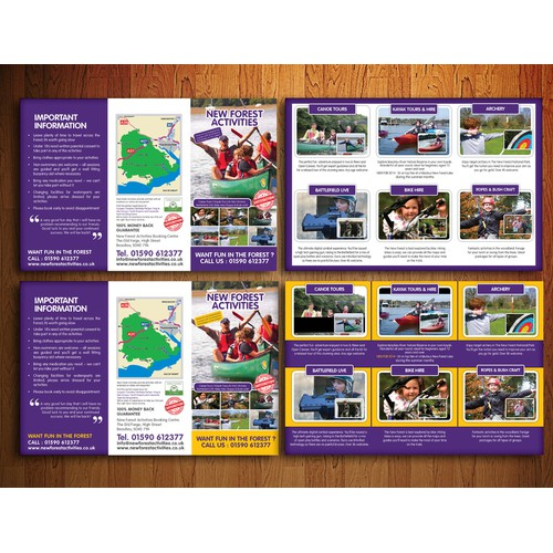 Activities Flyer for New Forest Activities