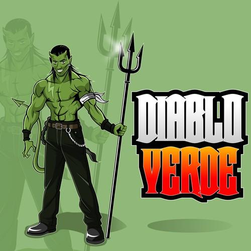 Create a cool party guy Devil for our creamy cilantro sauce - Salsa Diablo Verde (Green Devil Sauce)
