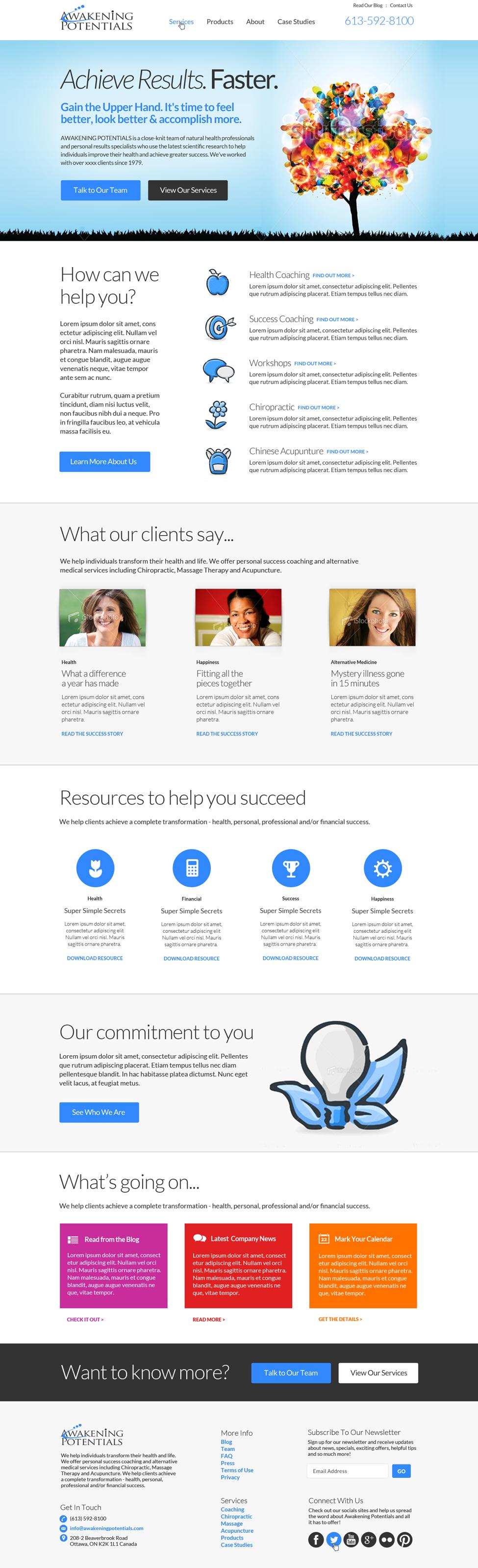 Fresh, Clean Website Design Wanted for Awakening Potentials (Ottawa, Canada)