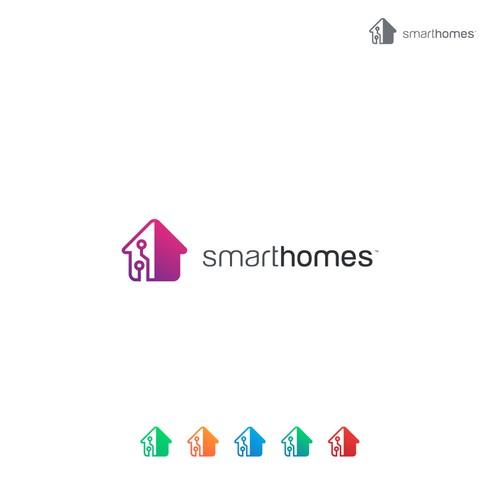 Smart Homes Logo Design