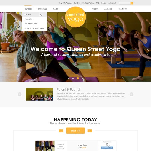 A welcoming & playful website design for Queen Street Yoga