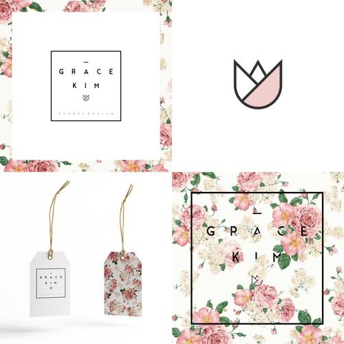 Flower Logo for Floral Designer