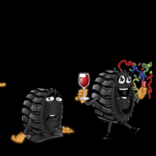 Create an innovative company mascot for tyre doctor