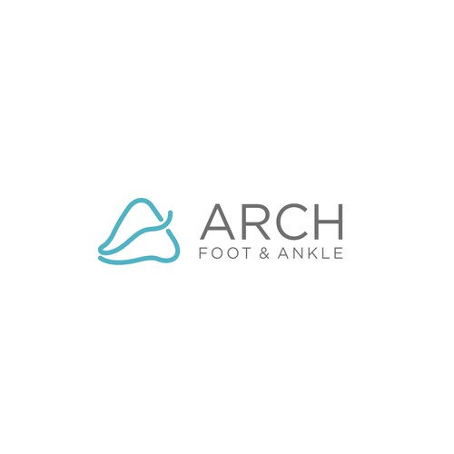 Modern, sleek logo for female podiatry practice