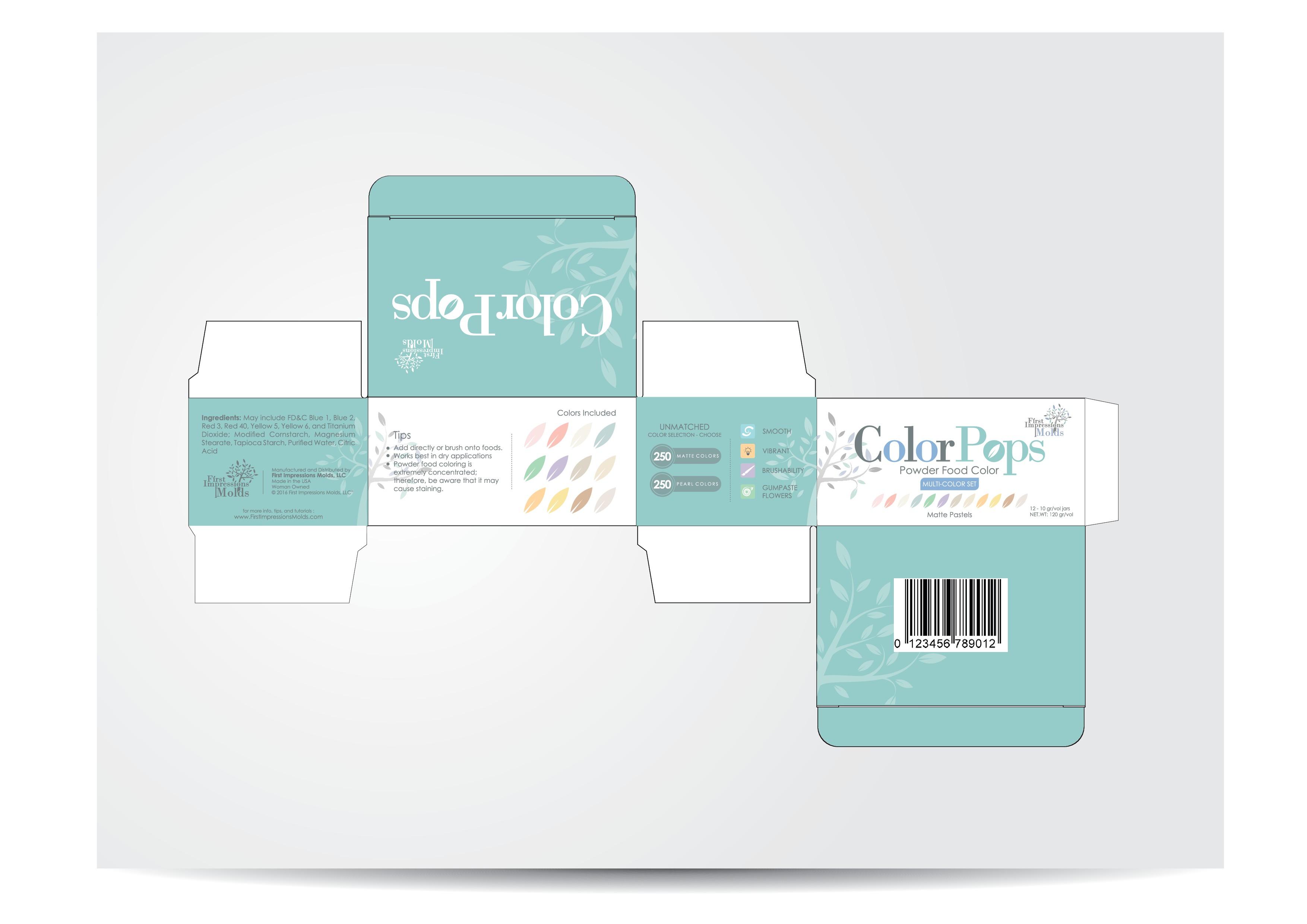 Design creative retail boxes for Color Pops!