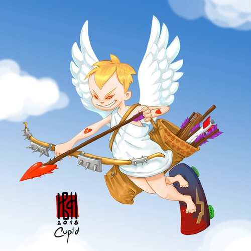 Cupid - commissioned illustration