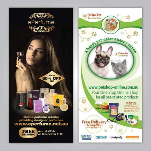 New DL flyer wanted for ePerfume / Online Pet Accessories