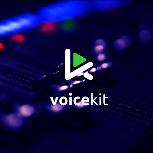 modern/abstract logo for our new AI powered voice over & narration startup