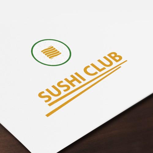 Sushi Club Logo Design