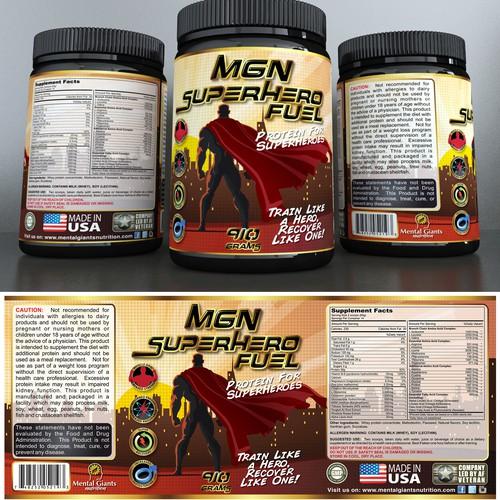 MGN label design