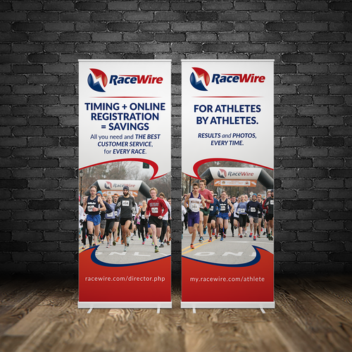Race Company pull up banner