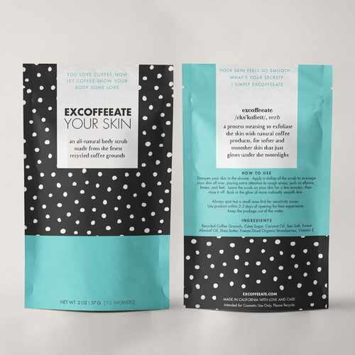 packaging design for a coffee scrub