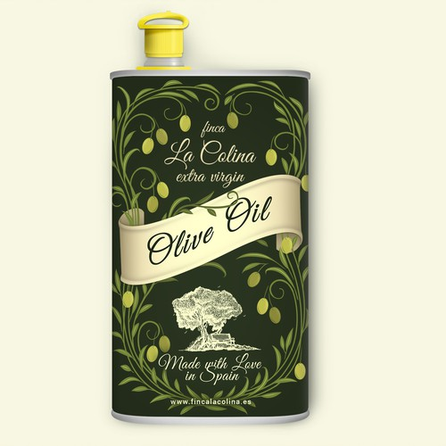Label design for organic Olive oil.