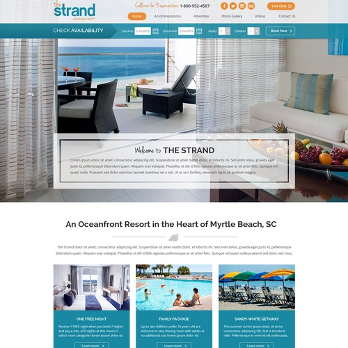 Landing Page Design for the Strand Resort