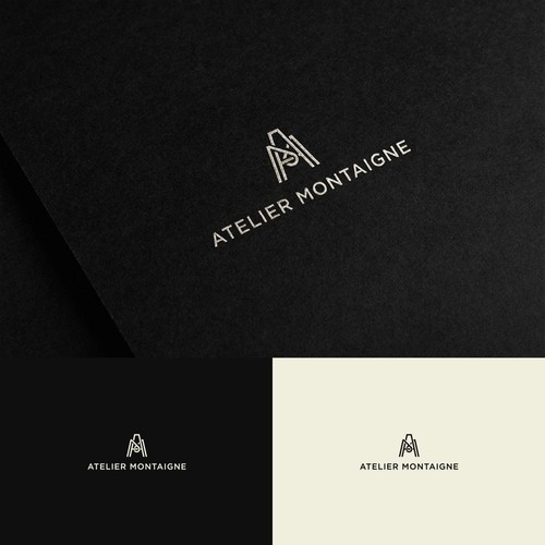 Logo Design for Atelier Montaigne (AM Monogram)