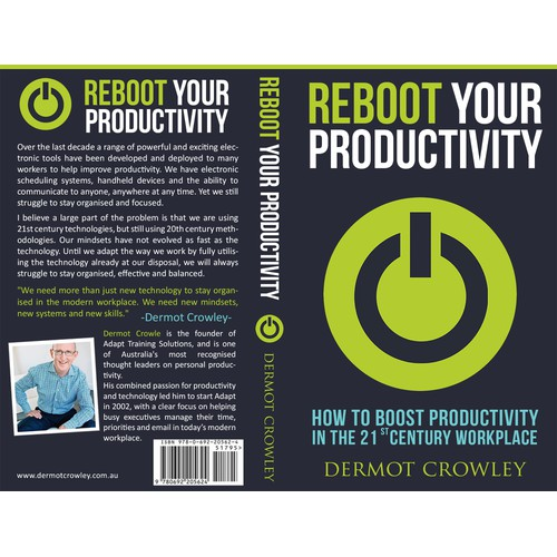 Create a book cover for Reboot Your Productivity