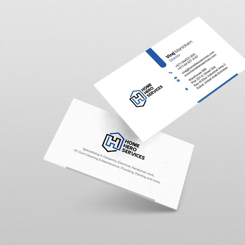Home Hero Services Business Card Design