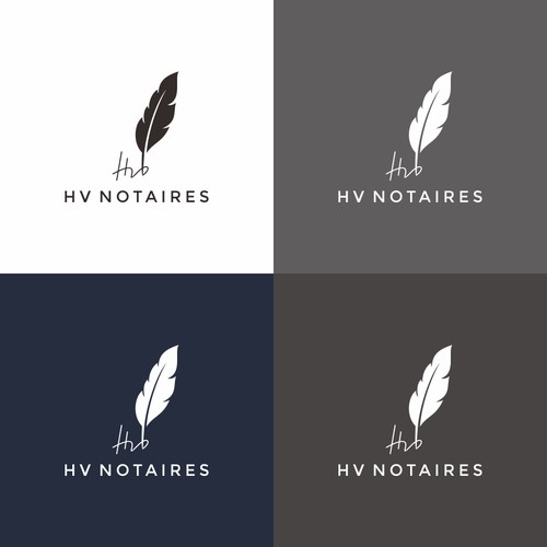 logo concept for notaires