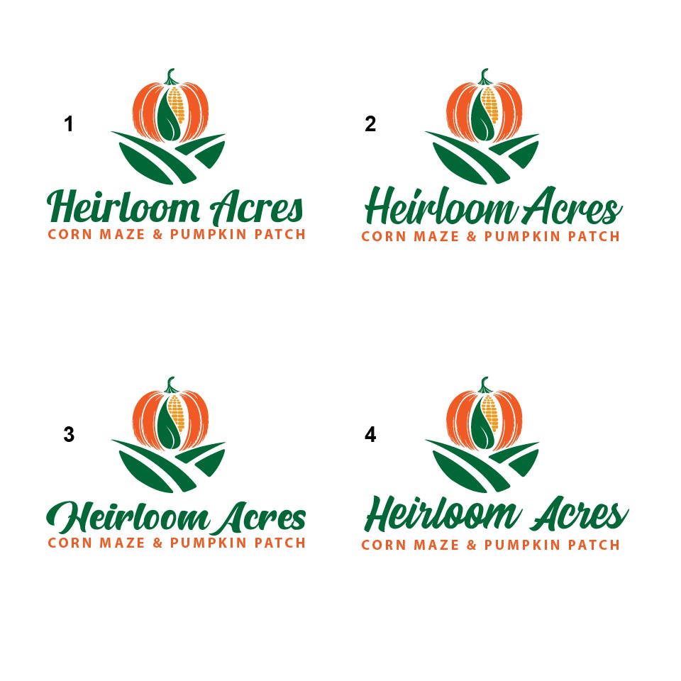 Design a smashing good logo for a Corn Maze & Pumpkin Patch