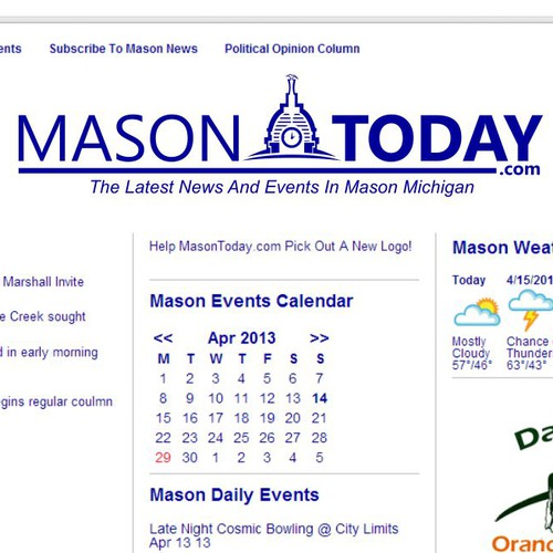 Help MasonToday.com with a new logo