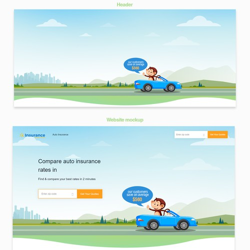 Insurance Site Header illustration
