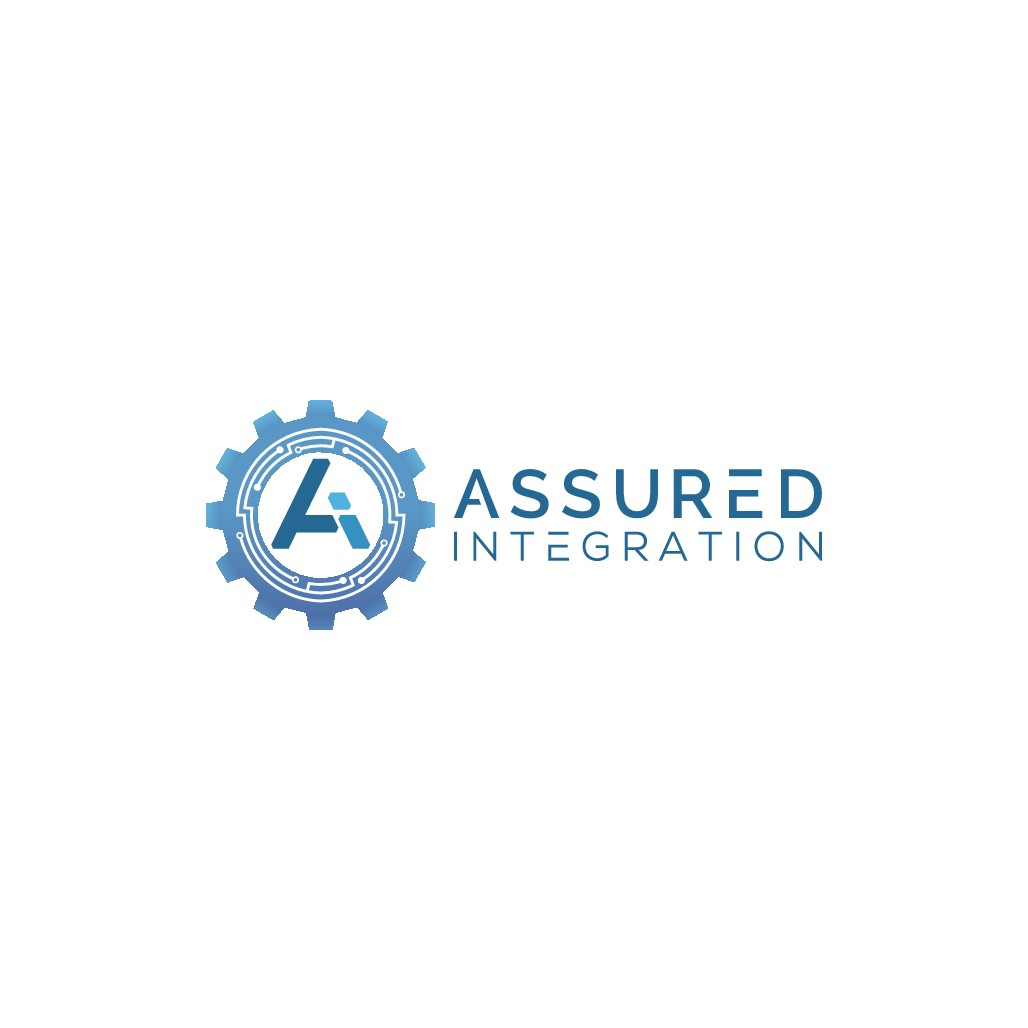 Create a clean electrical/mechanical/software related logo for Assured Integration