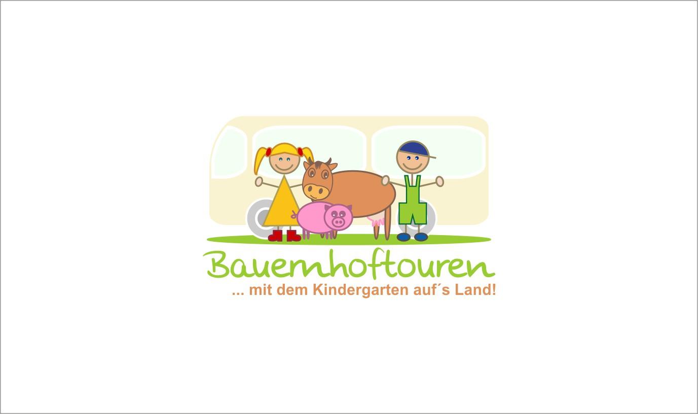 Abenteuer Bauernhof für Kindergartengruppen - Neuer Reiseveranstalter sucht Logo