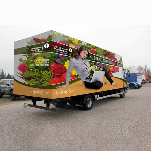 Dutch flower shop Truck Wrap design