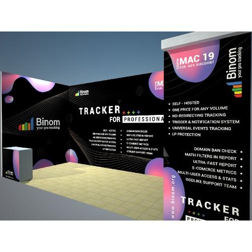 banner design, backwall