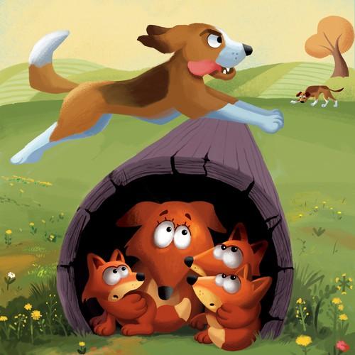 kids book fox family