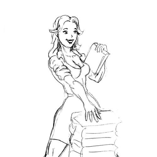 skatch for librarian girl