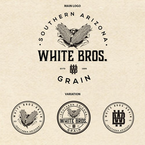 White Bros. Grain logo