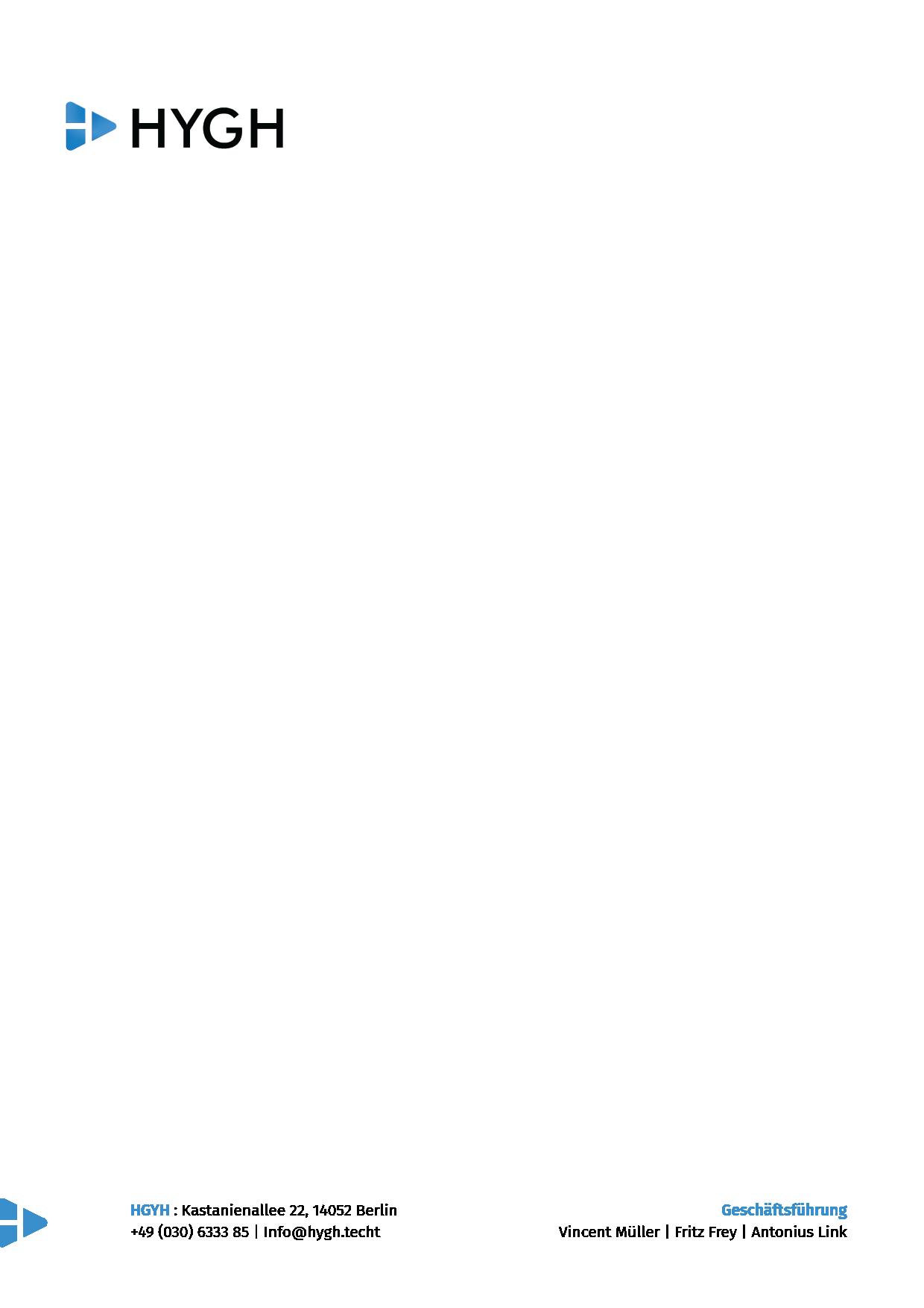 Design für HYGH Außenwerbe Platform