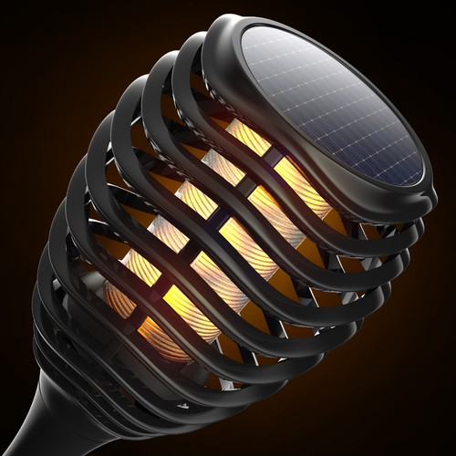 Flickering flame Solar-LED lights