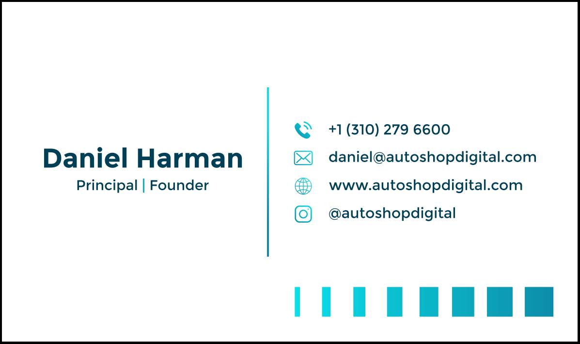 Business Cards for Auto Shop Digital