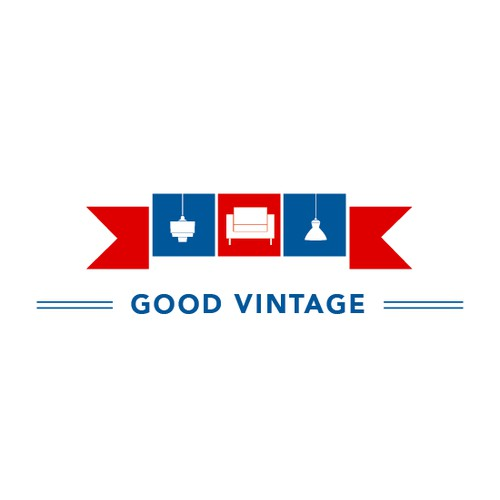 Vintage logo for mid century modern furniture store