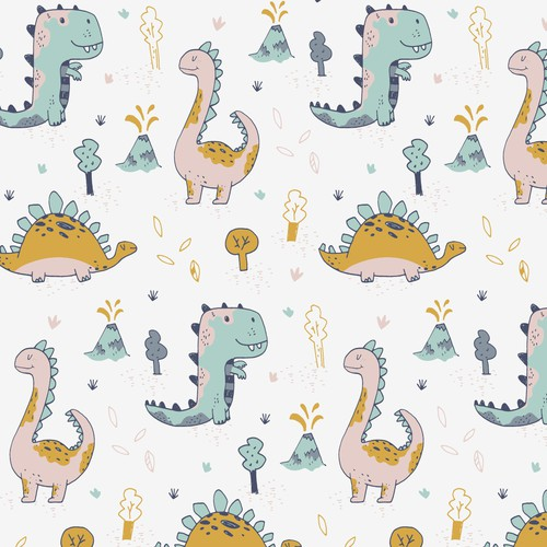 Dino pattern design