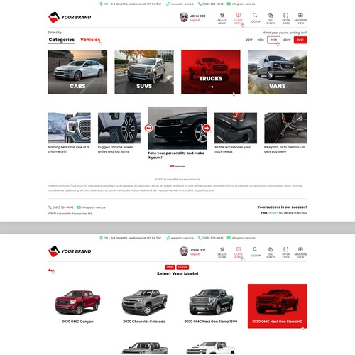Redesign car accessories shopping cart software