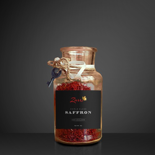 Saffron label design