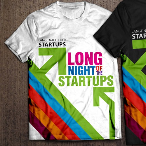 Create a colorful T-Shirt as a memorabilia for the startup event